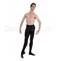 Capezio men's knit footed tights zwart