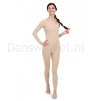 Capezio Lange Mouwen Unitard Nude