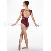 Capezio Skylight Breeze Cap Sleeve Leo burgundy achter