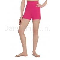 Capezio Hoog getailleerde shorts Hot Pink