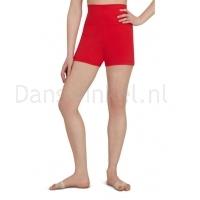 Capezio Hoog getailleerde shorts rood