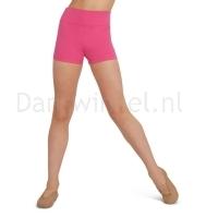 Capezio Hoog getailleerde shorts meisjes hot pink