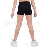 Capezio Hoog getailleerde shorts meisjes zwart achter