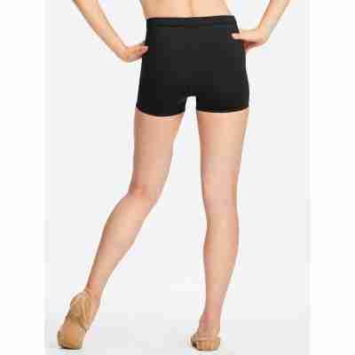 Capezio Tech Shorts zwart achterkant