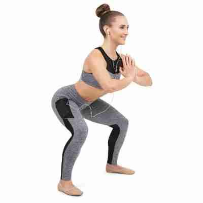 Capezio Dance Active Paneled Legging Dames grijs
