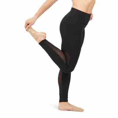 Capezio Dance Active Paneled Legging Dames zwart