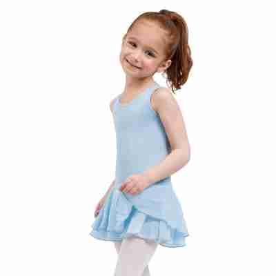 Capezio Double Layer Skirt Tank Dress licht blauw