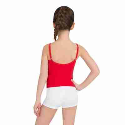 Capezio Team Basics Cami Meisjes rood achterkant