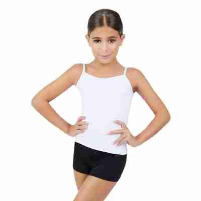 Capezio Team Basics Cami Meisjes wit voorkant
