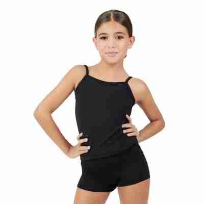 Capezio Team Basics Cami Meisjes zwart