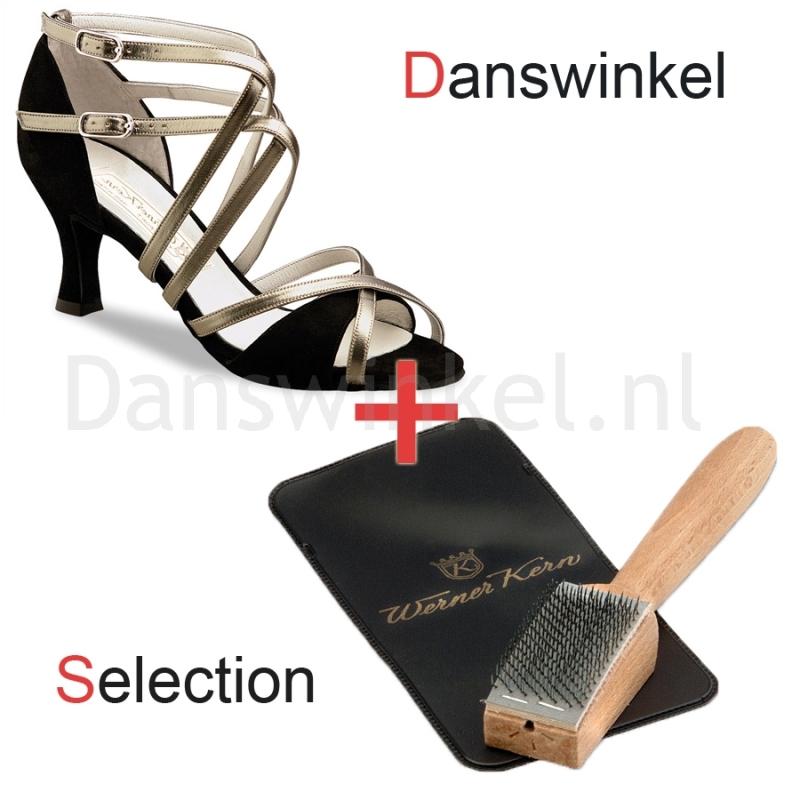 Werner Kern Eva (Suede black / Chevro antik) Danswinkel Selection