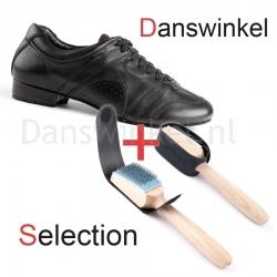 Portdance casual 001 Danswinkel Selection met Nubuck Zool Zwart