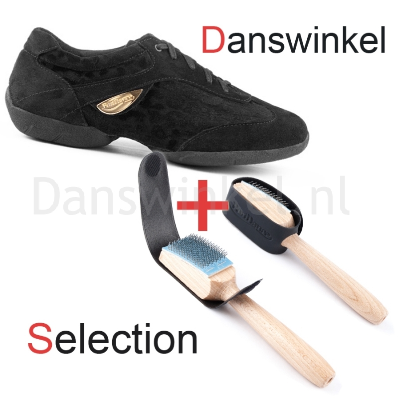 Portdance PD02 Sneaker Fashion Zwart Nubuck Danswinkel Selection