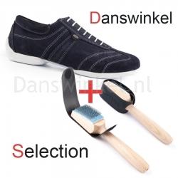 Portdance PD Pietro Street Blue Nubuck White Sole Danswinkel Selection