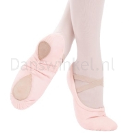capezio pro canvas roze balletschoenen splitzool