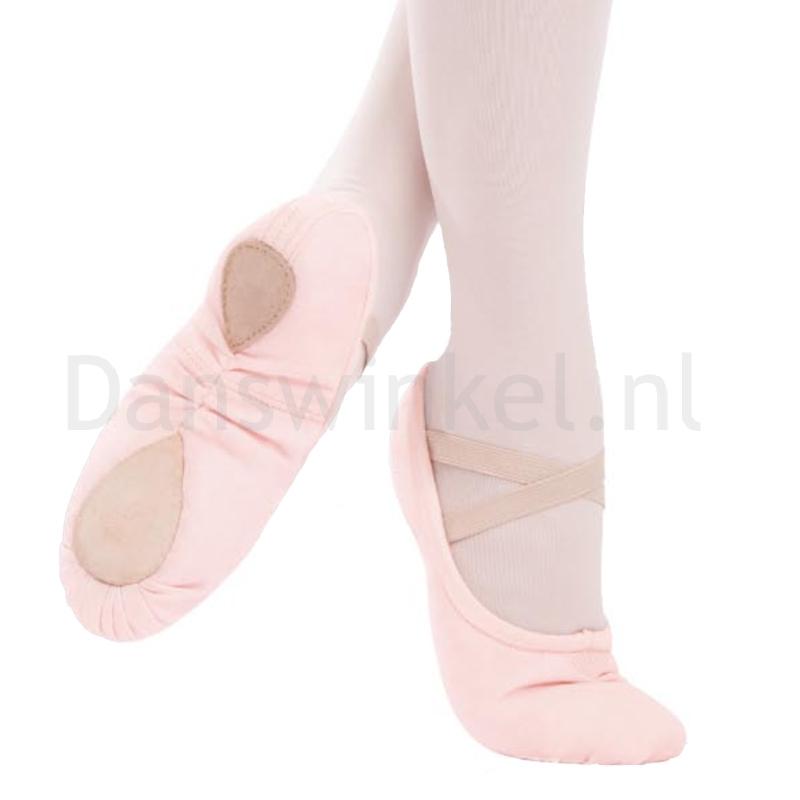capezio pro canvas roze balletschoenen splitzool