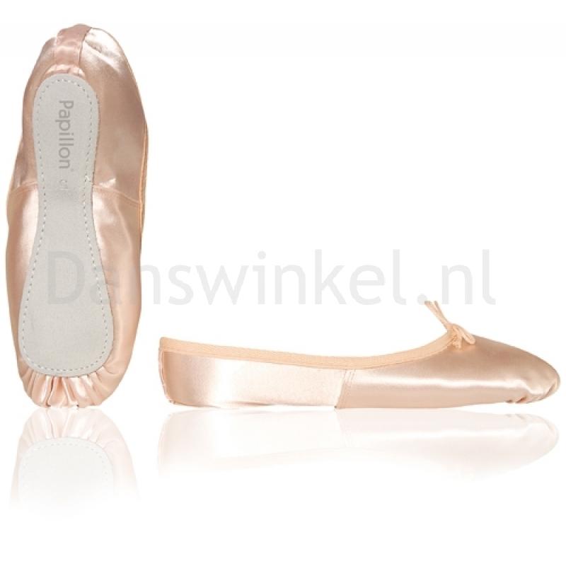 Papillon PK1020 Satijnen Balletschoenen voor Kinderen met Suède Zool
