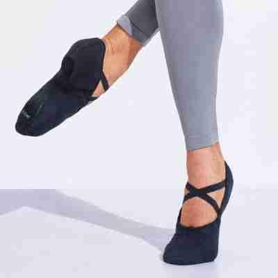 Capezio Cobra U2031 Zwarte Balletschoenen Voor Heren canvas en splitzool