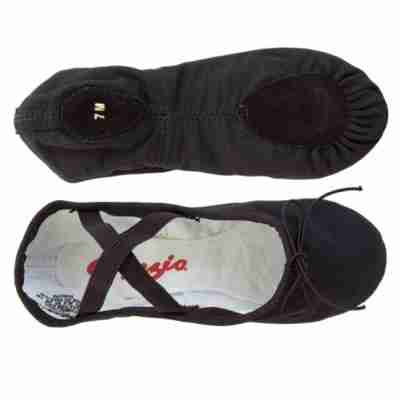 Capezio Cobra U2031 Zwarte Balletschoenen Voor Heren gekruiste elastieken