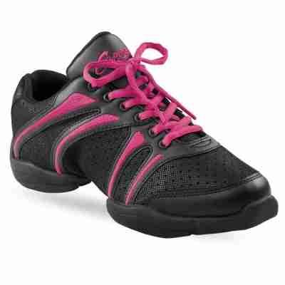 Capezio bolt ds30 zwart-roze danssneakers uitverkoop