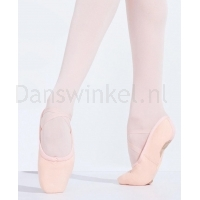 capezio pro canvas roze balletschoenen splitzool u2039