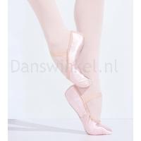 Capezio Satin Daisy U215 Satijnen Balletschoenen doorlopende suède zool
