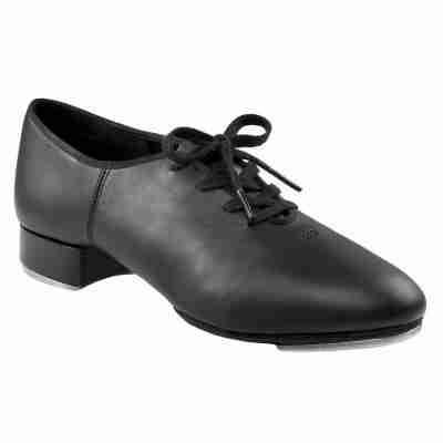 zwarte leren splitzool tap dans schoen Capezio Split Sole Tap CG06