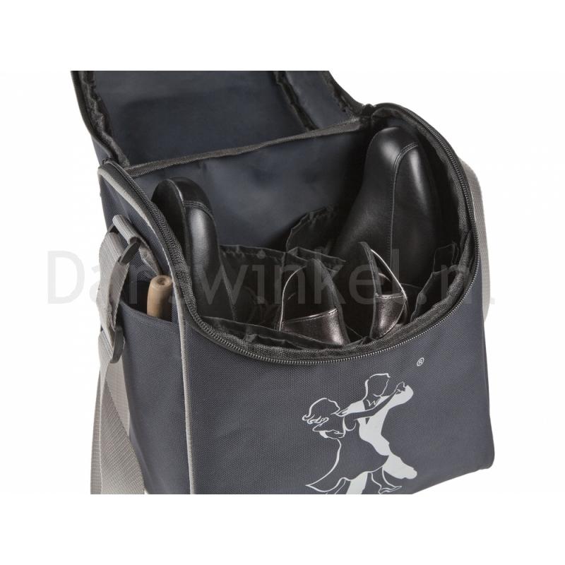 Zwarte Danstas voor twee Paar Dansschoenen