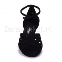 diamant dansschoenen zwart hak 5cm