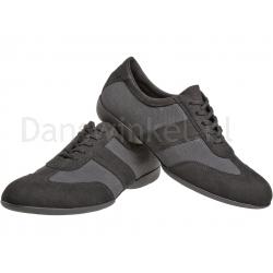 Diamant Heren danssneakers Zwart-Grijs voor Latin-Salsa  123325563