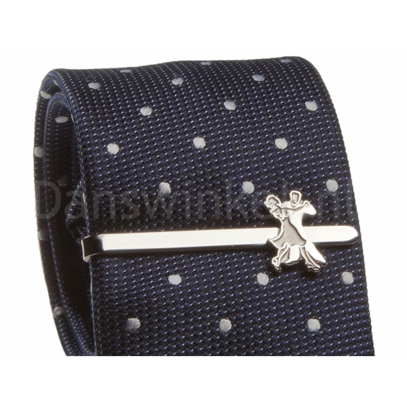 Diamant Tie clip HW07978 roestvrij staal