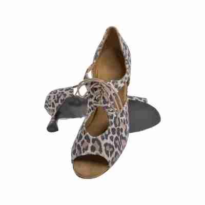 Diamant Dames Dansschoenen luipaard print buitenzool 190087329V