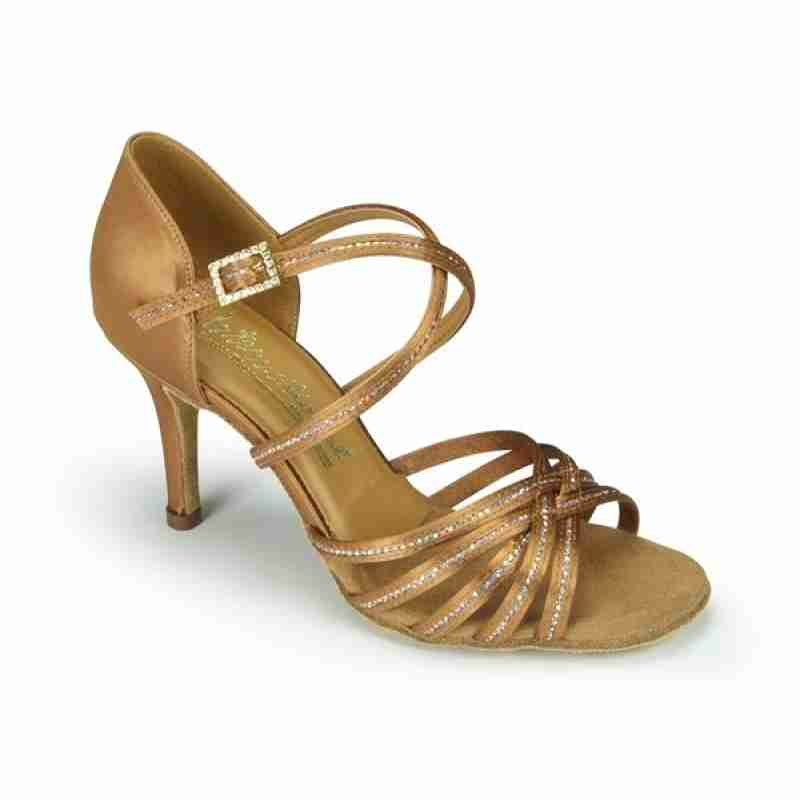 IDS dames Salsa schoenen Larissa Sequin Tan SALE