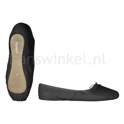 Papillon Balletschoenen met Doorlopende Zool PA1000 zwart