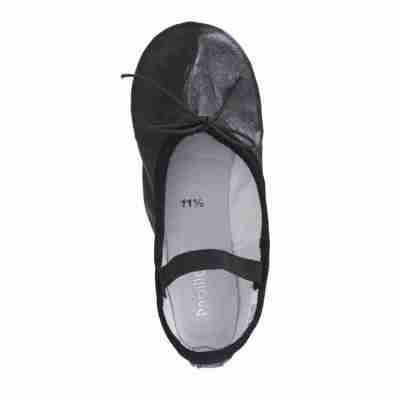 Papillon Kinderballetschoenen met Doorlopende Zool PK1000 zwart