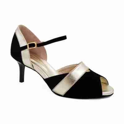 Portdance PD601 Black Gold Leather 55