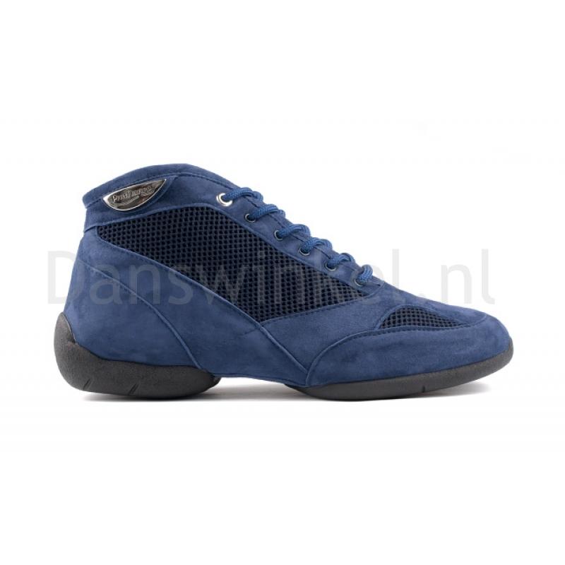 Portdance PD960 Premium Hoge Nubuck Danssneakers Blauw