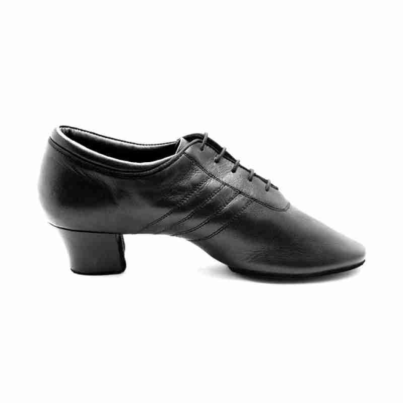 Portdance PD008 zwarte lederen latin dansschoenen voor heren