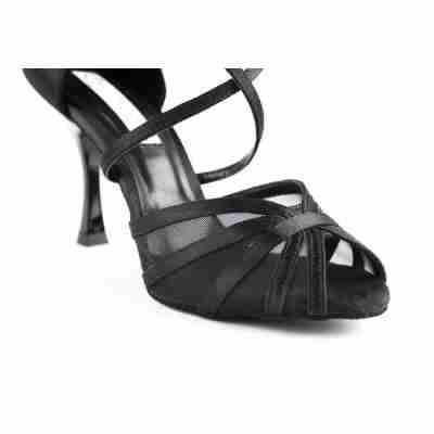 PortDance PD807 zwarte dansschoenen voor latin