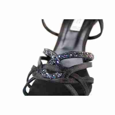 Portdance PD800 zwarte dansschoenen met glitter