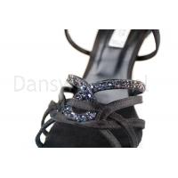 zwarte dansschoenen met glimmende steentjes