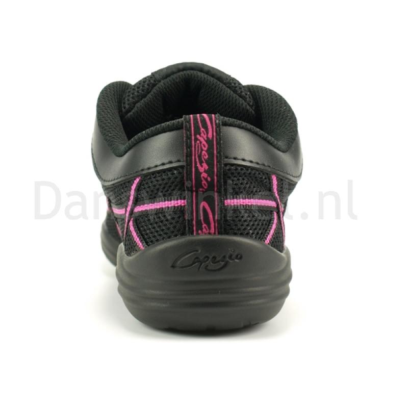 Capezio Web Roze danssneaker met splitzool DS19 achterkant