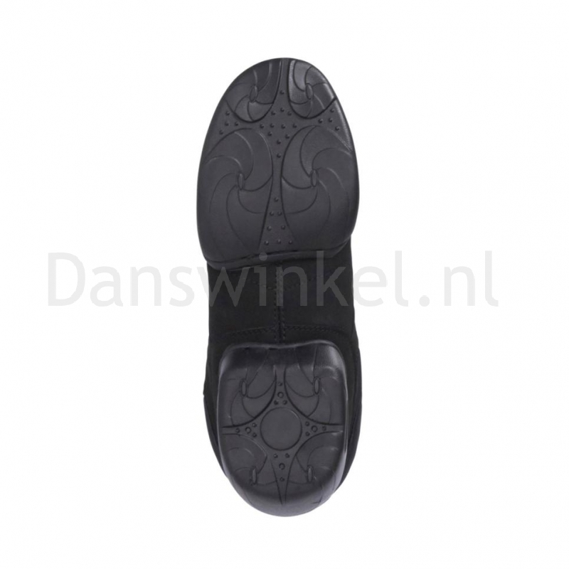 Papillon PA1506 Nubuck Zwarte Hoge Danssneaker en splitzolen