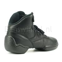 zwarte rubberen danssneakers