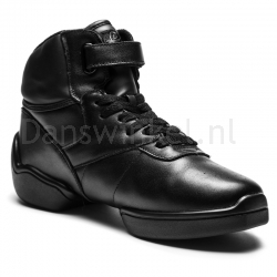 Rumpf High Top Sneaker Leather upper black 1500
