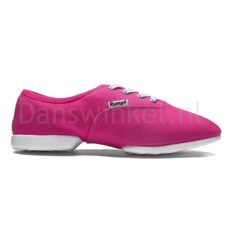 Rumpf Bee Jazz RU1515 Fuchsia Canvas Danssneakers met Splitzool
