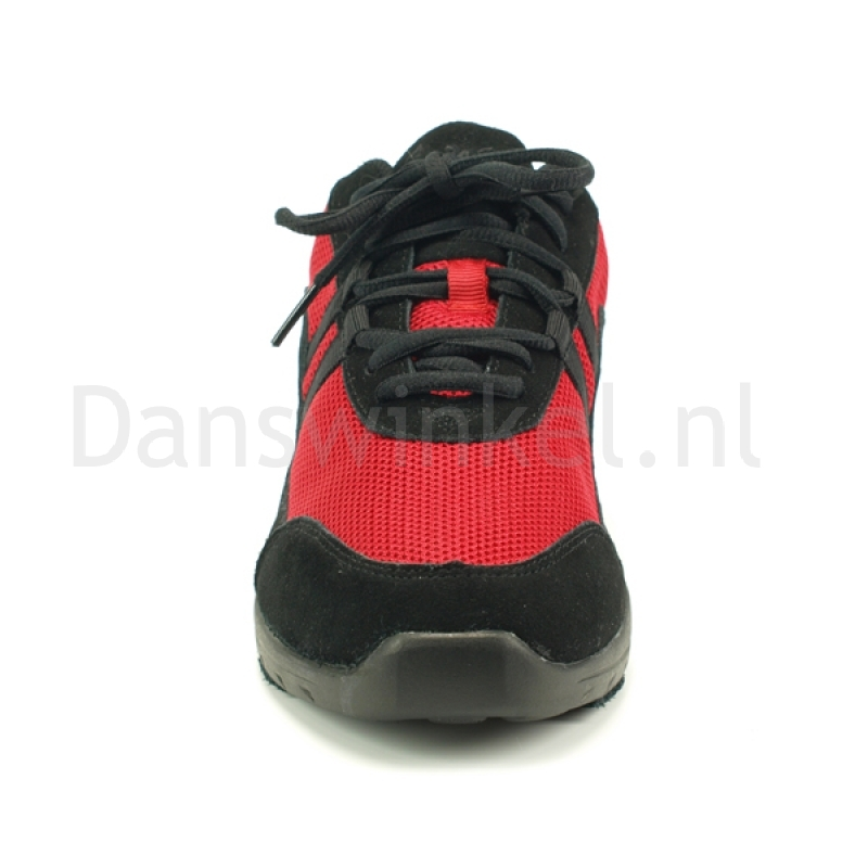 rumpf space red danssneakers met splitzolen