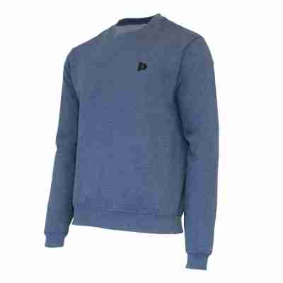 Donnay Heren Fleece Crew Sweater Dean donkerblauw