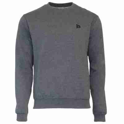 Donnay Heren Fleece Crew Sweater Dean grijs voorkant