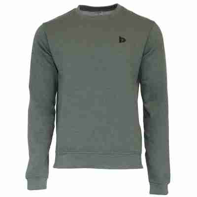 Donnay Heren Fleece Crew Sweater Dean groen voorkant